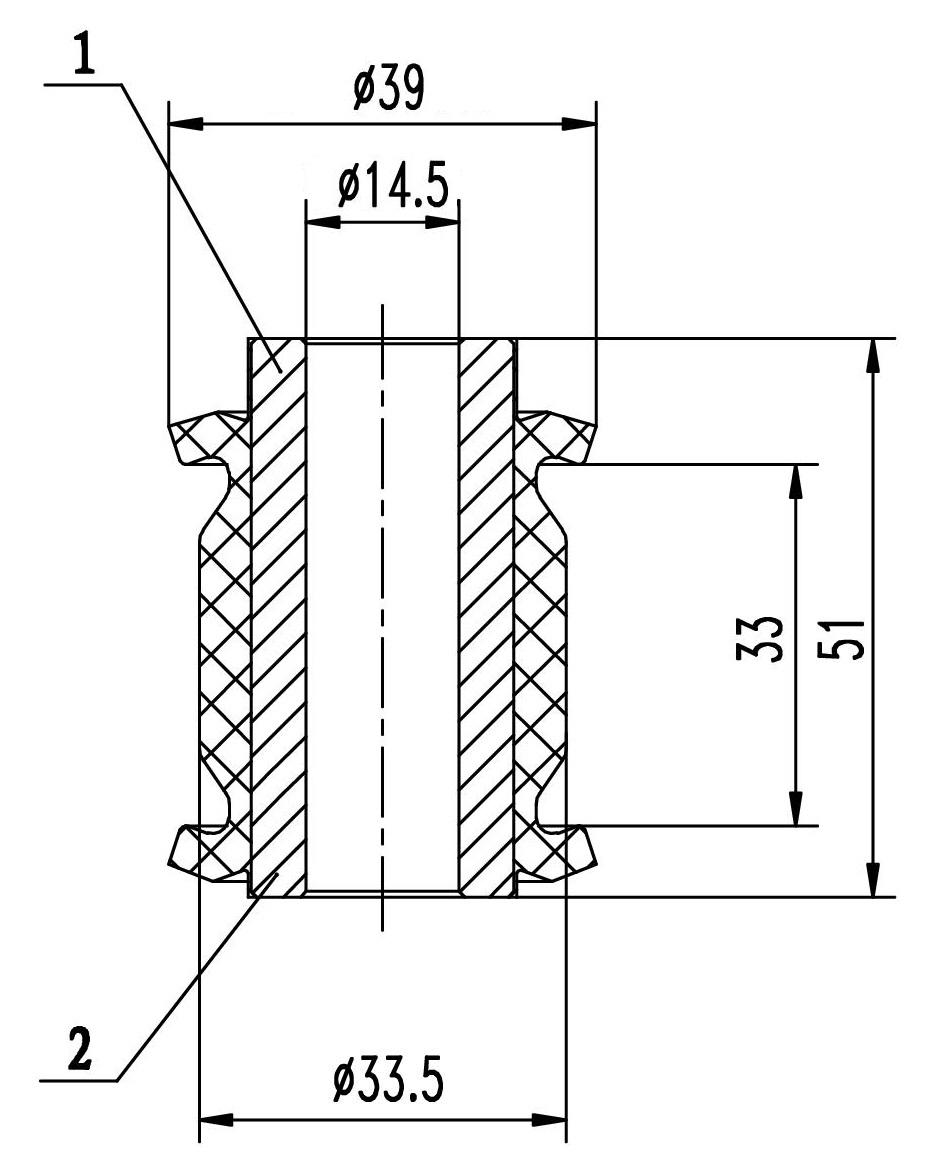 Сайлентблок AKITAKA 0201-182 (рулевой рейки) NISSAN