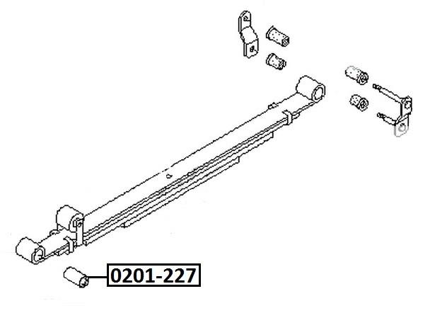 Сайлентблок AKITAKA 0201-227 (задней рессоры) NISSAN
