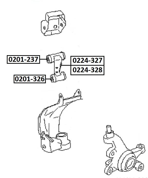 Сайлентблок AKITAKA 0201-237 (переднего рычага задний) NISSAN