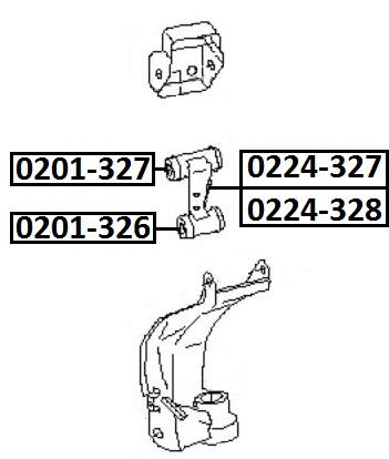 Сайлентблок AKITAKA 0201-326 (маленький переднего верхнего рычага) NISSAN