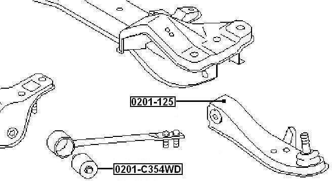 Сайлентблок AKITAKA 0201-C354WD (переднего торсиона) NISSAN