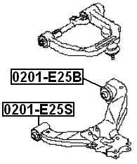 Сайлентблок AKITAKA 0201-E25B (передний нижнего переднего рычага) NISSAN
