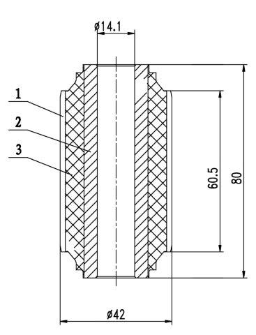 Сайлентблок AKITAKA 0201-E25S (передний нижнего переднего рычага) NISSAN