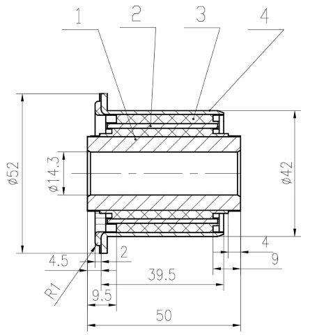 Сайлентблок AKITAKA 0201-J31S (переднего рычага передний) NISSAN