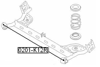 Сайлентблок AKITAKA 0201-K12R (задней балки) NISSAN