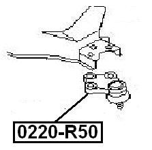 Опора шаровая AKITAKA 0220-R50 NISSAN
