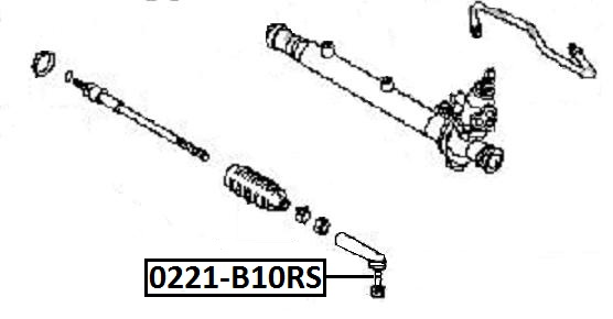Наконечник рулевой AKITAKA 0221-B10RS NISSAN
