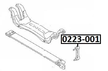 Тяга стабилизатора AKITAKA 0223-001 NISSAN (задняя)