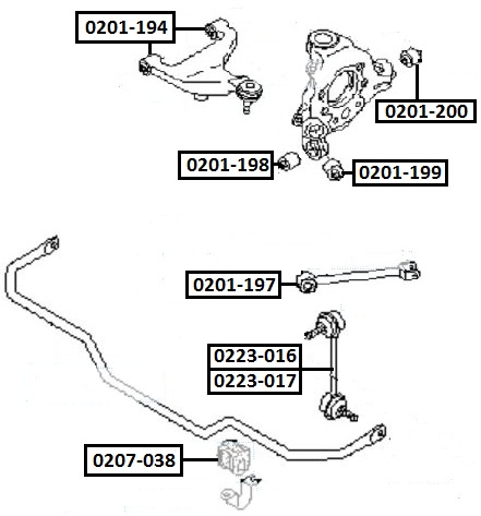 Тяга стабилизатора AKITAKA 0223-016 NISSAN (задняя R)