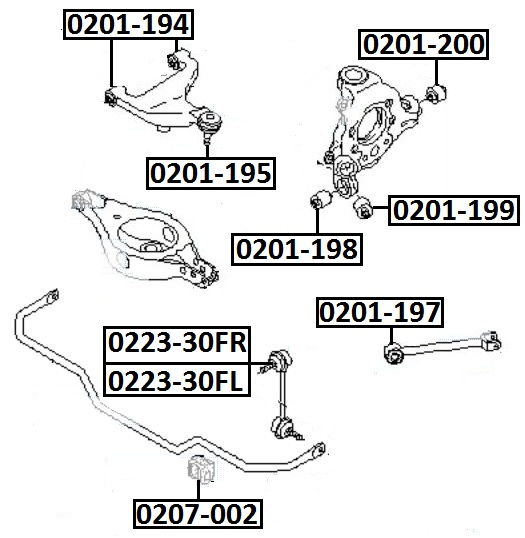 Тяга стабилизатора AKITAKA 0223-30FL NISSAN