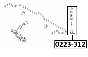 Тяга стабилизатора AKITAKA 0223-312 NISSAN (передняя)
