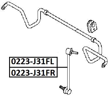 Тяга стабилизатора AKITAKA 0223-J31FR NISSAN