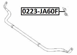 Тяга стабилизатора AKITAKA 0223-JA60F NISSAN (передняя)