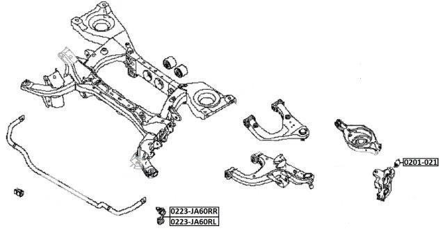 Тяга стабилизатора AKITAKA 0223-JA60RL NISSAN (задняя L)