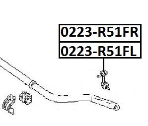 Тяга стабилизатора AKITAKA 0223-R51FL NISSAN (передняя L)