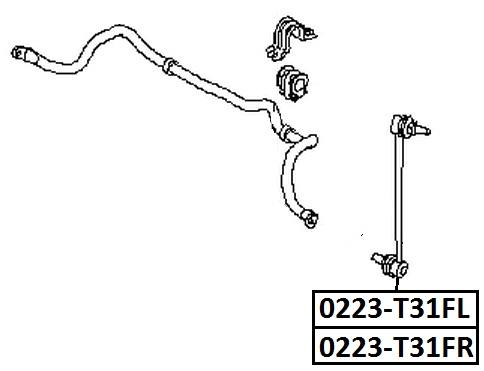 Тяга стабилизатора AKITAKA 0223-T31FL NISSAN