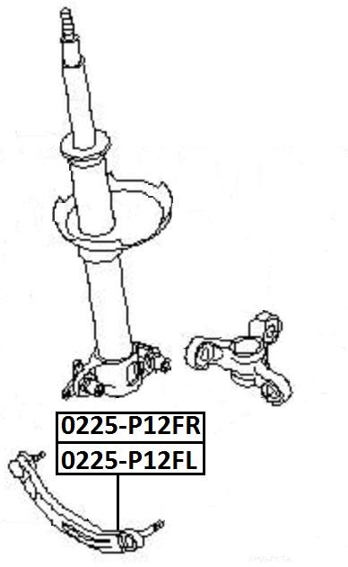 Тяга стабилизатора AKITAKA 0225-P12FR NISSAN (передняя R)