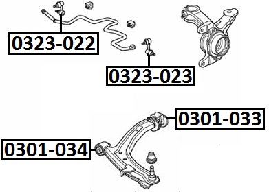 Сайлентблок AKITAKA 0301-033 (переднего рычага задний) HONDA