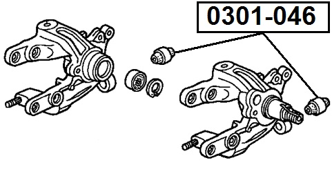 Сайлентблок AKITAKA 0301-046 (задней цапфы) HONDA