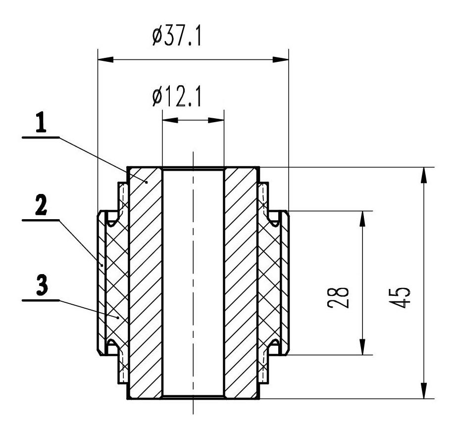 Сайлентблок AKITAKA 0301-086 (заднего амортизатора) HONDA