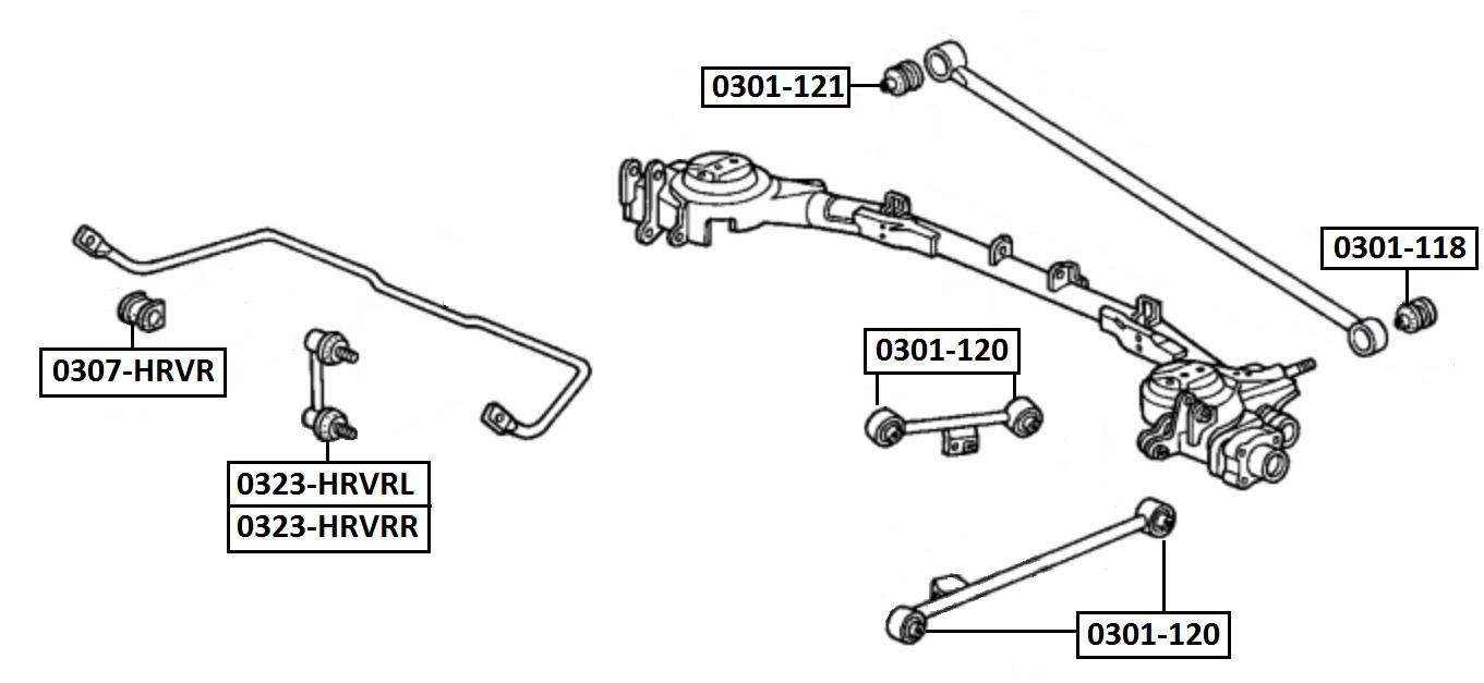Сайлентблок AKITAKA 0301-118 (тяги панара к балке) HONDA