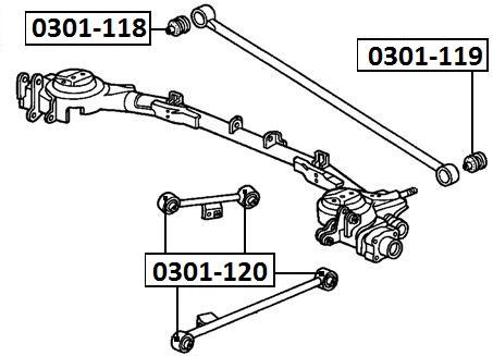 Сайлентблок AKITAKA 0301-119 (тяги панара к кузову) HONDA