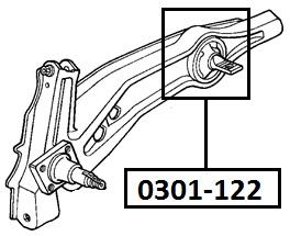 Сайлентблок AKITAKA 0301-122 (заднего продольного рычага ушастый) HONDA