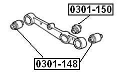 Сайлентблок AKITAKA 0301-150 (заднего рычага) HONDA