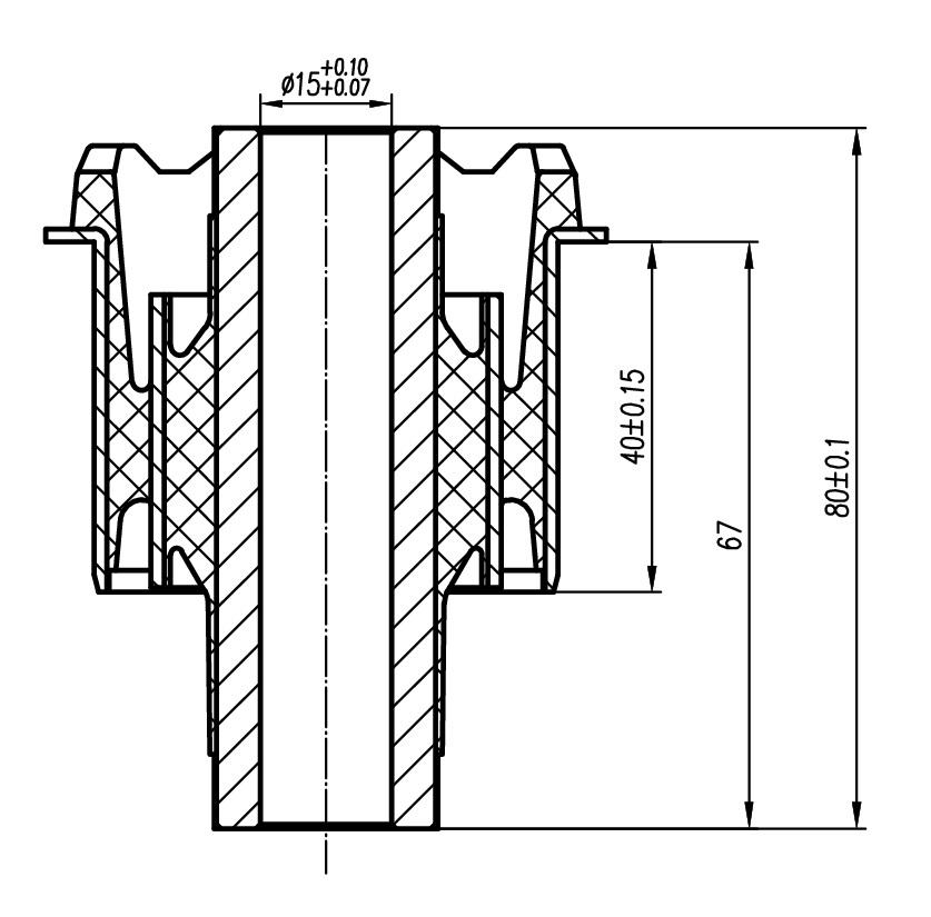 Сайлентблок AKITAKA 0301-155 (заднего нижнего рычага передний) HONDA