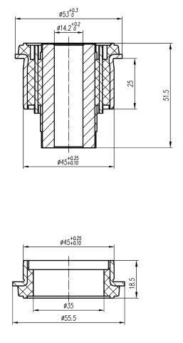 Сайлентблок AKITAKA 0301-156 (задней цапфы передний) HONDA