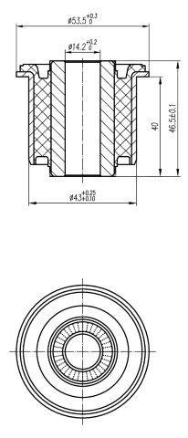 Сайлентблок AKITAKA 0301-157 (задней цапфы задний) HONDA