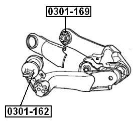 Сайлентблок AKITAKA 0301-169 (заднего рычага) HONDA