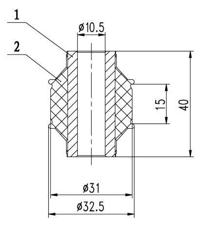 Сайлентблок AKITAKA 0301-170 (заднего амортизатора) HONDA
