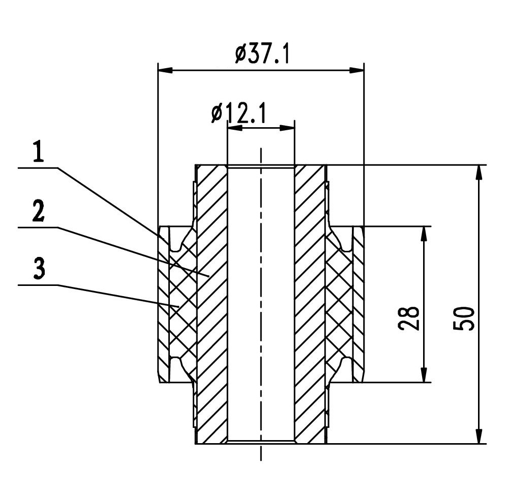 Сайлентблок AKITAKA 0301-191 (заднего амортизатора) HONDA