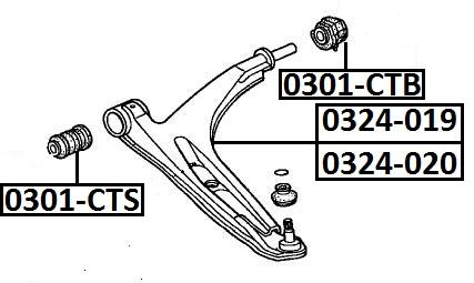 Сайлентблок AKITAKA 0301-CTS (переднего рычага передний) HONDA