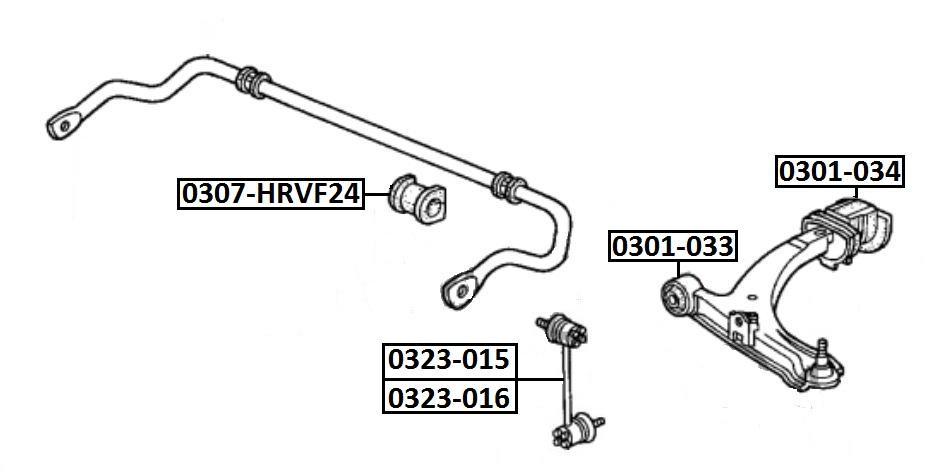 Тяга стабилизатора AKITAKA 0323-016 HONDA (передняя L)