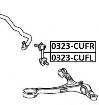 Тяга стабилизатора AKITAKA 0323-CUFR HONDA (передняя R)
