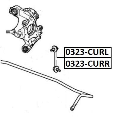 Тяга стабилизатора AKITAKA 0323-CURL HONDA (задняя L)