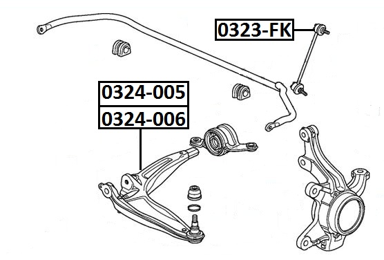 Тяга стабилизатора AKITAKA 0323-FK HONDA (передняя)