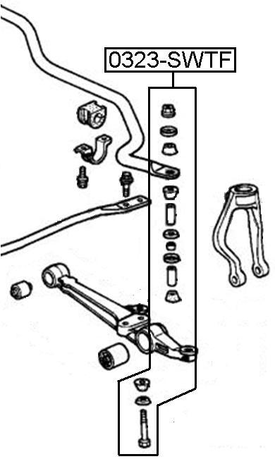 Тяга стабилизатора AKITAKA 0323-STWF HONDA (передняя)