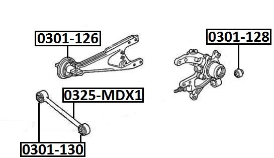 Тяга стабилизатора AKITAKA 0325-MDX1 HONDA (задняя поперечная)
