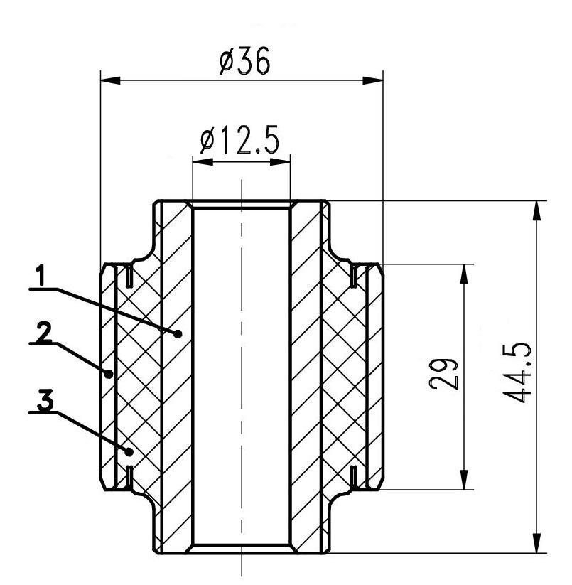 Сайлентблок AKITAKA 0401-022 (заднего поперечного верхнего переднего рычага)