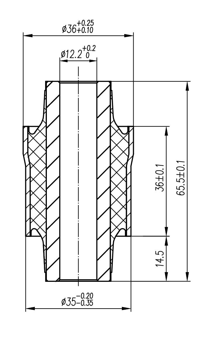 Сайлентблок AKITAKA 0401-050 (заднего поперечного рычага)