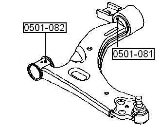 Сайлентблок AKITAKA 0501-081 (переднего рычага задний) FORD
