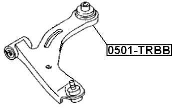 Сайлентблок AKITAKA 0501-TRB (переднего рычага задний) FORD