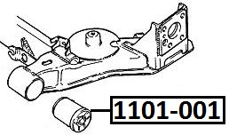 Сайлентблок AKITAKA 1101-001 (задней балки) CHEVROLET