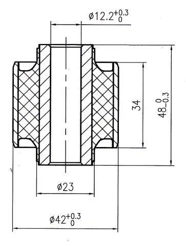 Сайлентблок AKITAKA 1101-004 (задней поперечной тяги) CHEVROLET