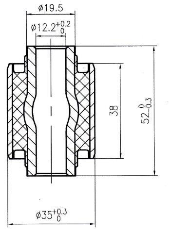 Сайлентблок AKITAKA 1101-005 (задней поперечной тяги) CHEVROLET