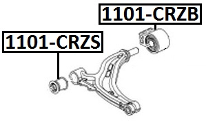 Сайлентблок AKITAKA 1101-CRZS (передний переднего рычага) CHEVROLET