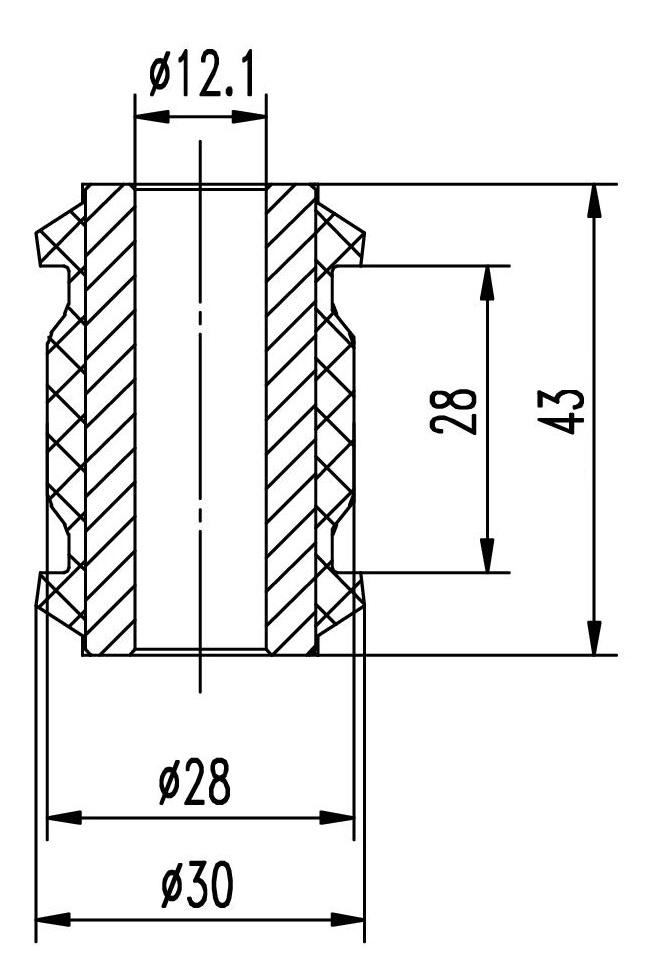 Сайлентблок AKITAKA 1101-LAC1 (заднего поперечного рычага) CHEVROLET